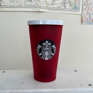 Starbucks red frosted tumbler 2018 Christmas
